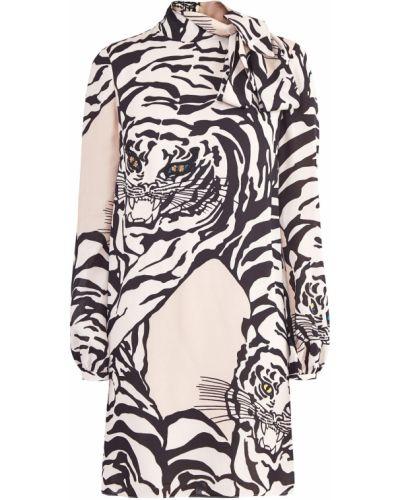 Платье мини с бисером шелковое Valentino