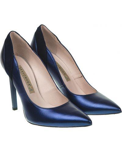 Туфли - синие Bravo Moda