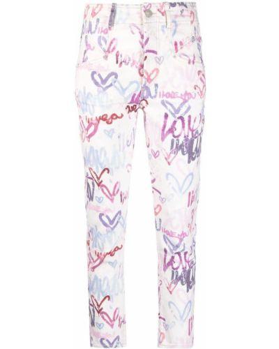 Klasyczne białe jeansy rurki bawełniane Isabel Marant
