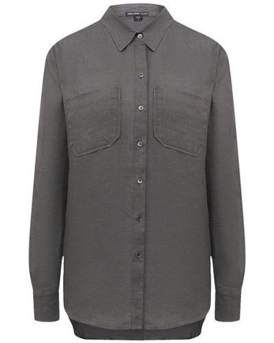 Льняная зеленая блузка James Perse