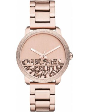 Водонепроницаемые часы розовый кварцевые Diesel
