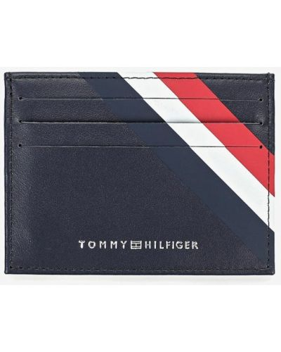 Синяя визитница Tommy Hilfiger