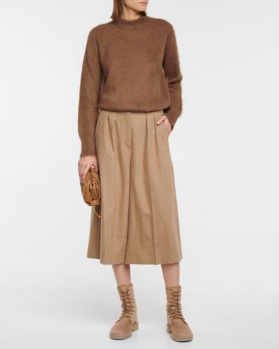Brązowy sweter moherowy S Max Mara