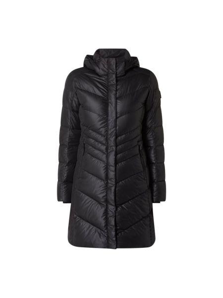 Czarny płaszcz z kapturem Bogner Fire + Ice