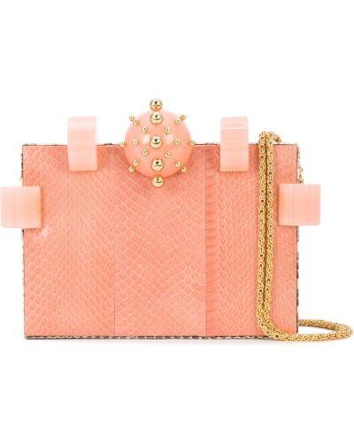 Розовая кожаная сумка Tonya Hawkes