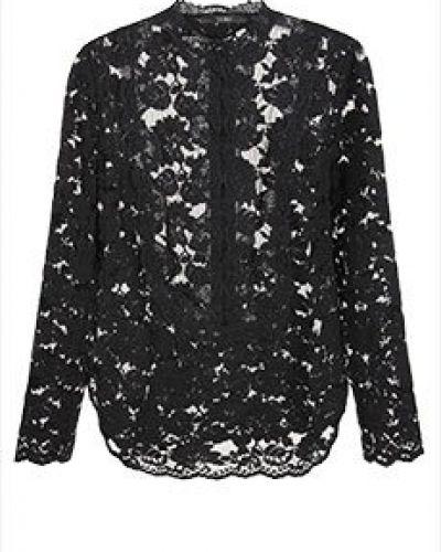 Хлопковая черная блузка Vuall