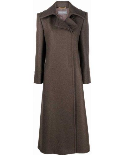 Зеленое длинное пальто Alberta Ferretti