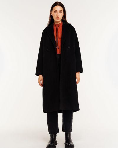 Шерстяное пальто - черное Befree