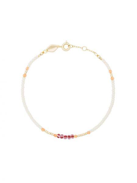 Белый золотой браслет позолоченный Anni Lu