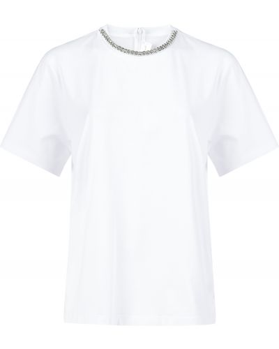 Хлопковая футболка - белая Victoria Beckham