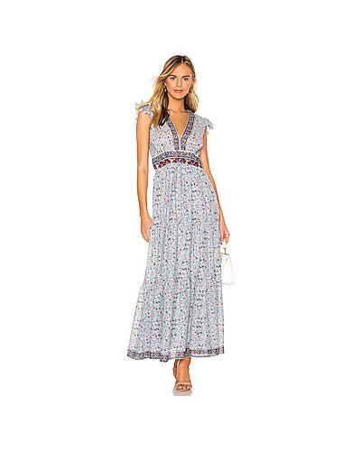 Платье с драпировкой с оборками Saylor