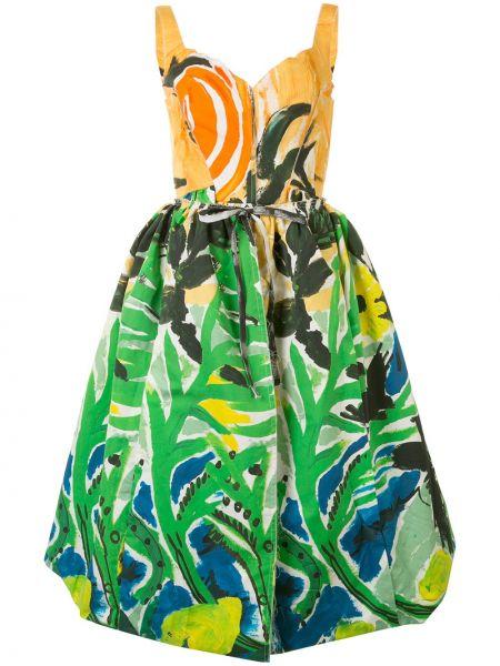 Платье миди с рукавами с вырезом Marni