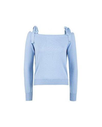 Хлопковый джемпер - голубой Blugirl