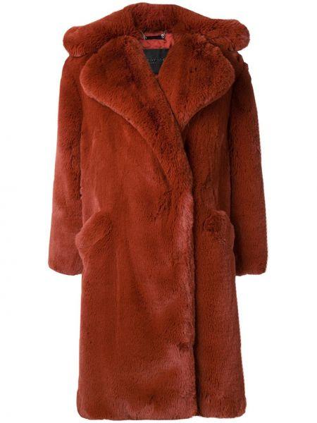 Пальто оверсайз с капюшоном из искусственного меха Givenchy