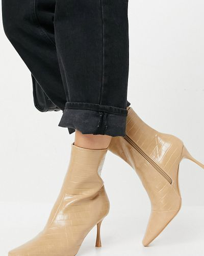 Beżowe ankle boots Z_code_z