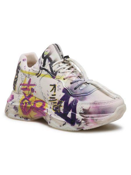 Buty sportowe skorzane - białe Bronx
