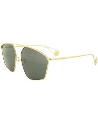 Złote okulary - żółte Gucci