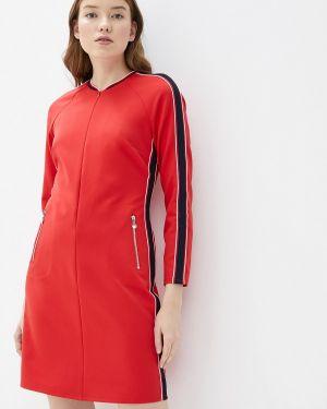 Платье прямое красный Taifun