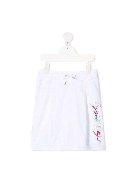 Biała spódnica mini z printem Givenchy