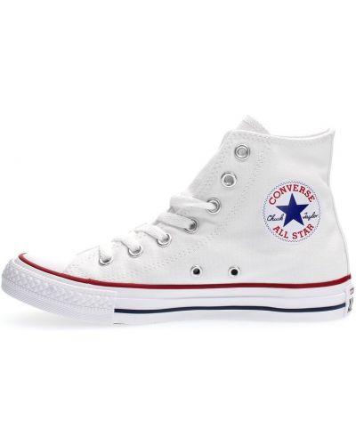 Białe trampki wysokie srebrne casual Converse