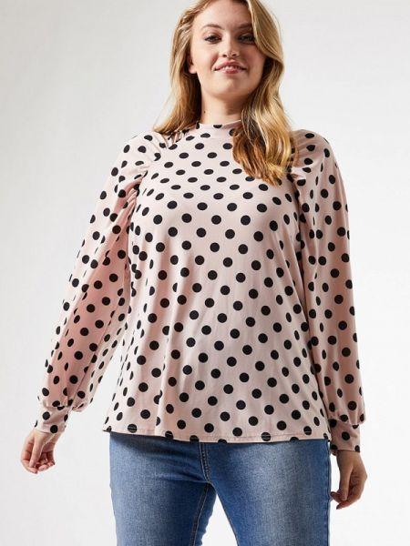 Блузка с длинным рукавом розовая весенний Dorothy Perkins Curve