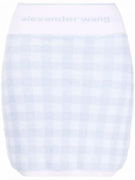 Хлопковая прямая белая юбка Alexanderwang.t