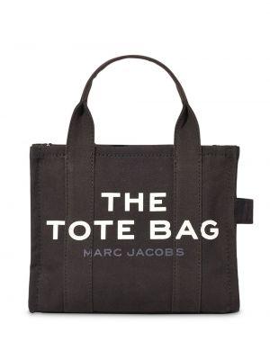 Хлопковая черная сумка-тоут на молнии Marc Jacobs