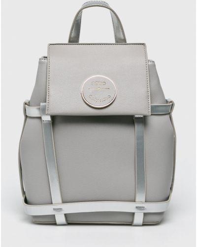 Кожаный рюкзак с подкладкой серый Nobo