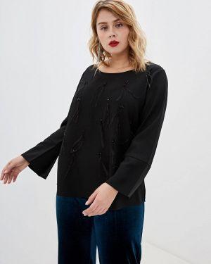 Блузка с длинным рукавом черная Persona By Marina Rinaldi