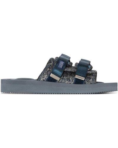 Niebieski skórzany sandały Suicoke