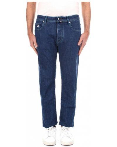 Niebieskie jeansy slim Vilebrequin