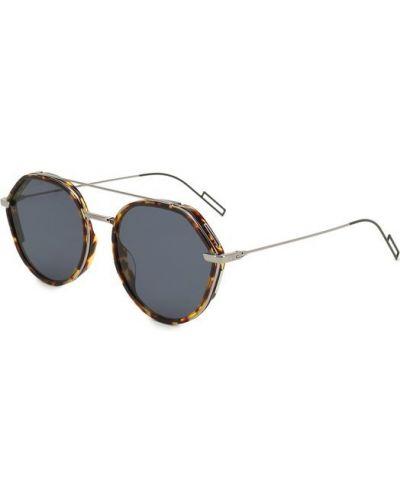 Солнцезащитные очки стеклянные серебряный Dior
