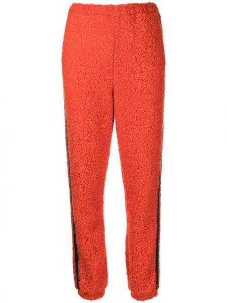 Флисовые спортивные брюки - оранжевые Staud