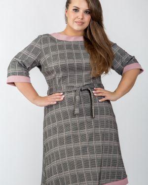 Платье мини в клетку платье-сарафан Belirini