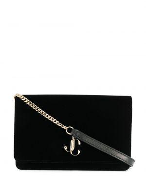 Кожаная сумка через плечо - черная Jimmy Choo