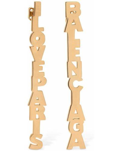 Серьги - золотые Balenciaga