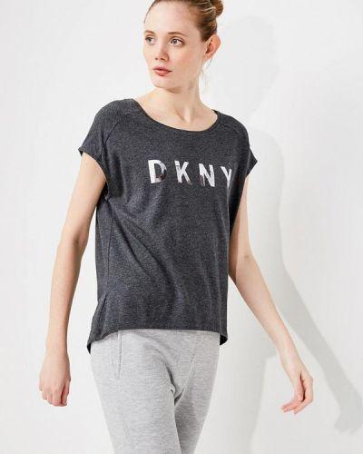 Серая футболка Dkny