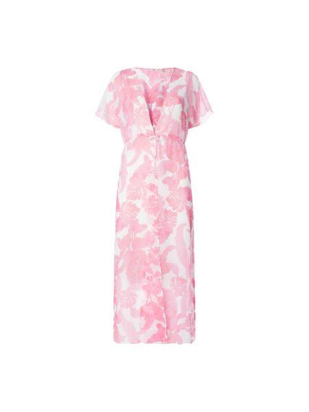 Różowa sukienka rozkloszowana nietoperze Guess