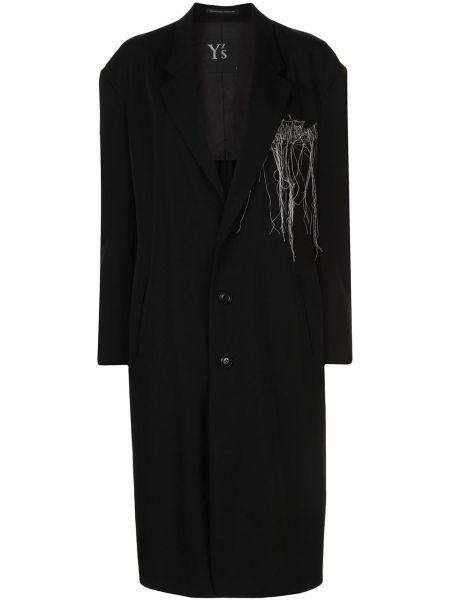 Długi płaszcz wełniany z kieszeniami Ys