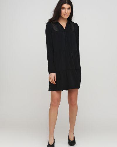 Свободное черное платье свободного кроя Frnch