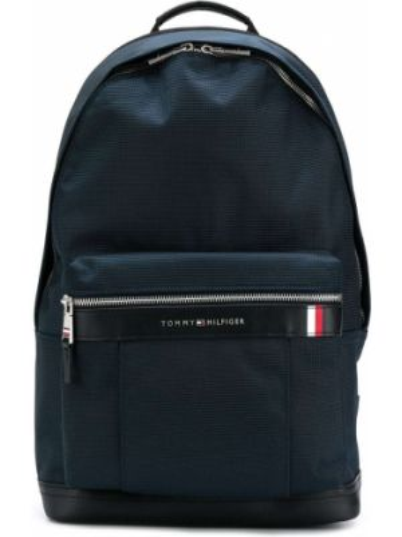 Синий рюкзак на бретелях с карманами с пряжкой Tommy Hilfiger
