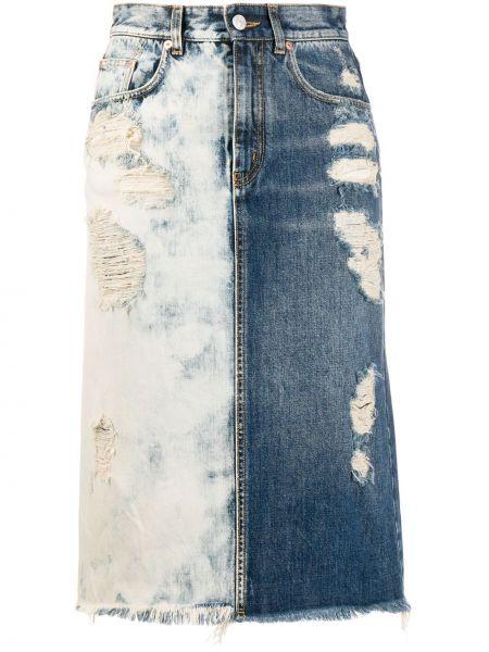 Джинсовая юбка на пуговицах с завышенной талией Givenchy