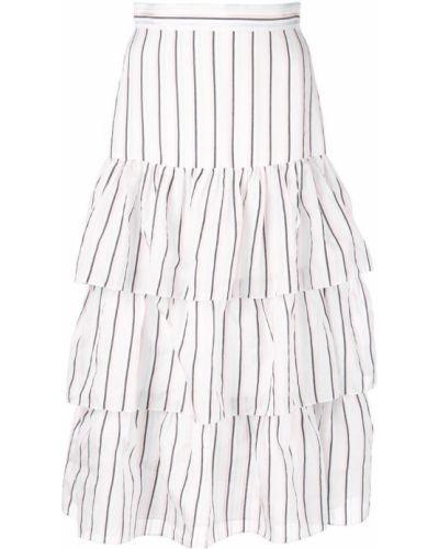 Приталенная ажурная юбка макси каскадная Jill Stuart