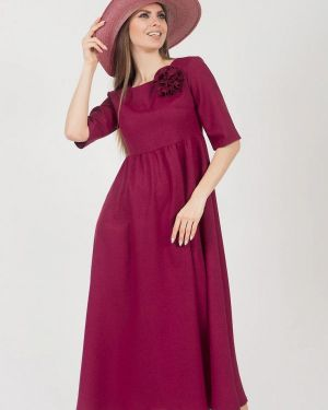 Платье миди бордовый красный Olivegrey