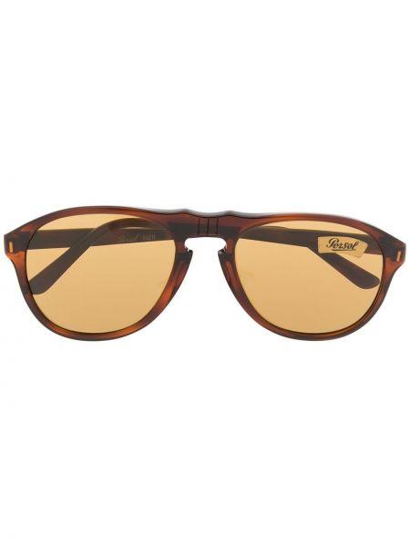 Прямые солнцезащитные очки хаки с завязками Persol Pre-owned