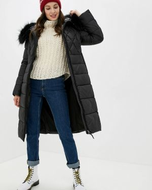 Зимняя куртка утепленная черная Clasna