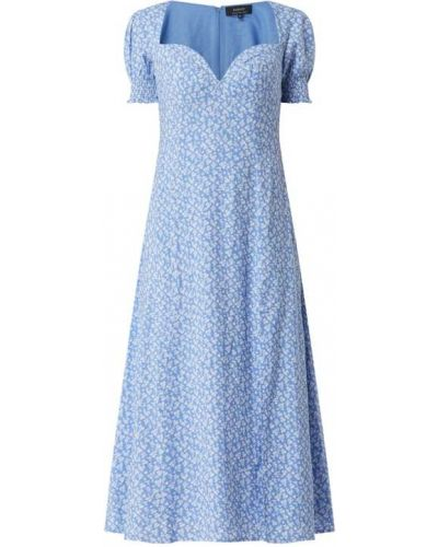 Sukienka mini - niebieska Bardot