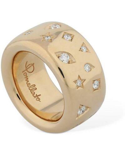 Кольцо с бриллиантом - золотое Pomellato
