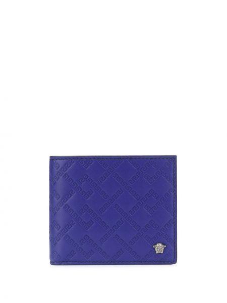 Portfel skórzany - fioletowy Versace