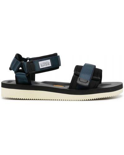 Czarne sandały peep toe Suicoke